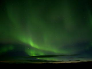 Northern lights in Reykjahlid, northern Iceland