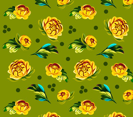 Background with flowers roses