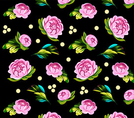Background of flowers roses