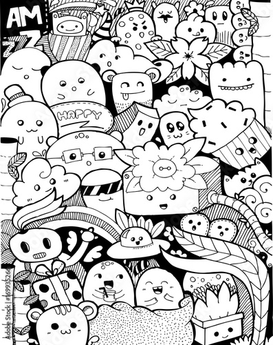 Cute Abstract Doodle Art Design\