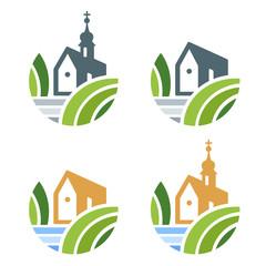 Church or Real Estate Logo Set