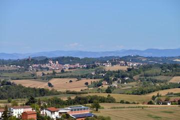 panorama del Monferrato, Piemonte, Italia