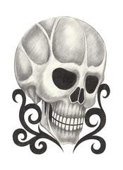 Art skull tattoo.