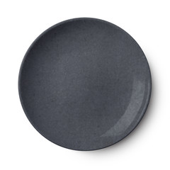 Simple black circular plate with clipping path