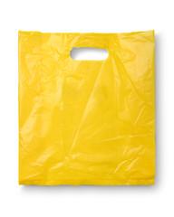 Blank plastic bag mock up isolated