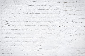 white painted brick wall texture for background