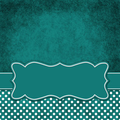Green and white polka dot square border with copy space