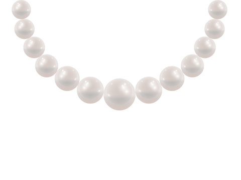 White pearl necklace.
