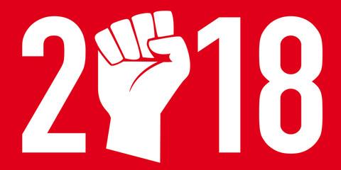 2018 - grève - lutte - syndicat - révolte - chômage - acquis sociaux