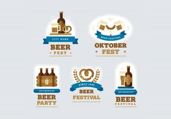 Oktoberfest Badge Set 1