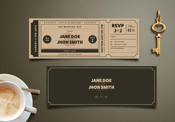 Wedding Invitation Movie Ticket 1