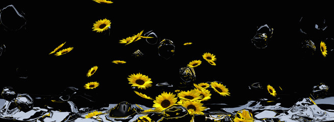 Header mit Sonnenblumenmeer.