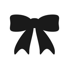 Bow icon of ribbon isolated on white background
