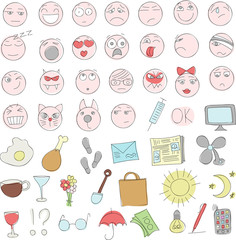 smileys and icons Doodle