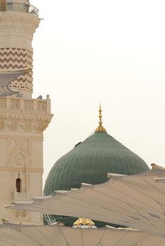 Prophet's Mosque al Masjid an Nabawi in Medina Saudi Arabia