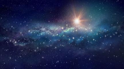 Foto auf Acrylglas Kosmos Deep space background