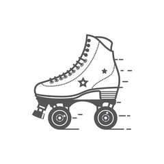 Roller skate icon. Flat vector related icon for web and mobile applications. It can be used as - logo, pictogram, icon, infographic element. Flat vector Illustration.