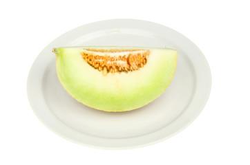 Galia melon on a plate
