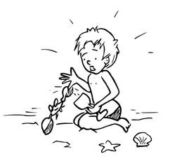 Jongen wordt gebeten door een krab
