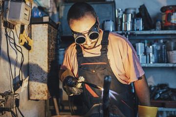 Welder Working in His Workshop