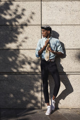 Stylish African American Businessman in the City