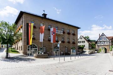 Rathaus in Pleinfeld in Bayern