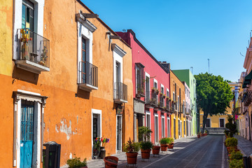 Colorful Street in Puebla