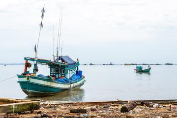 Cambodian fishing boats in Sihanoukville, Cambodia