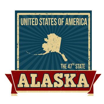 Alaska sign or stamp