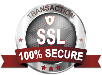 transaction ssl protected 100% secure button