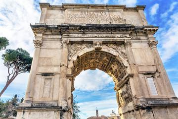 Titus Arch Jerusalem Victory Roman Forum Rome Italy