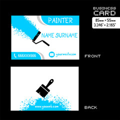 business card for painter worker