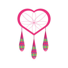colorful dream catcher  over  white background vector illustration
