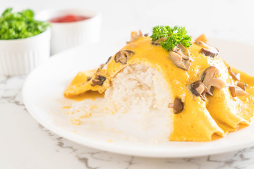 Creamy Omelet with Mushroom