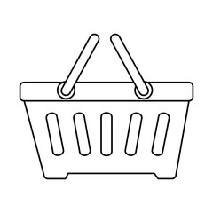 shopping basket isolated icon vector illustration design