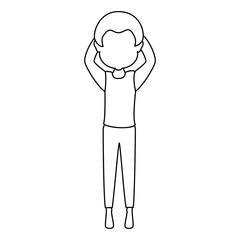 man sleeping character icon vector illustration design