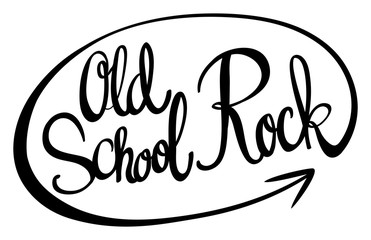 English phrase for old school rock