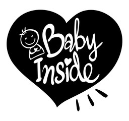 English phrase for baby inside