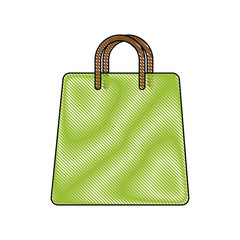 shopping bag icon over white background vector illustration
