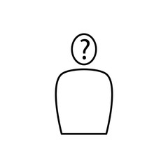 questioning person icon