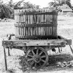 pressoir en bois ancien