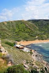 Elevated view of Ghaja Tehheiha Bay, Malta.