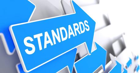 Standards - Label on the Blue Pointer. 3D.