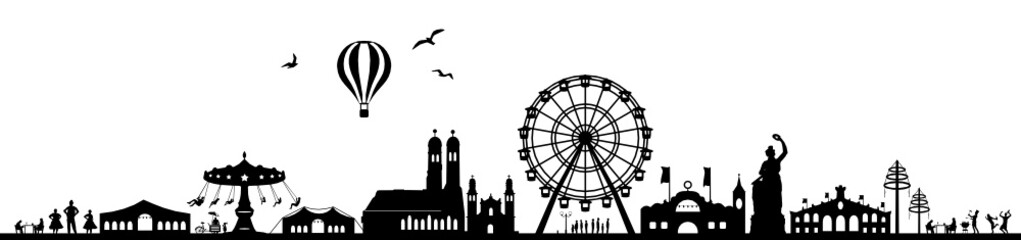 Skyline München Oktoberfest