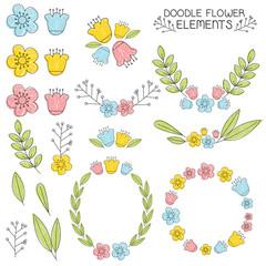 Doodle FLower Elements
