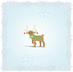 Christmas Card with Reindeer Icon