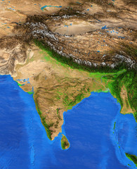 Wall Mural - India - High resolution map