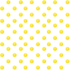 Bitcoin seamless pattern