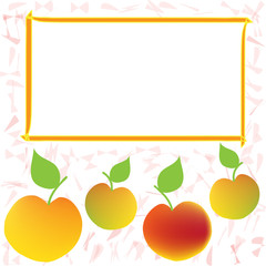 Label,sticker,tag design with apple and frame for price
