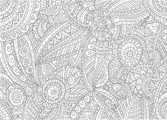 Abstract hand-drawn outline pattern